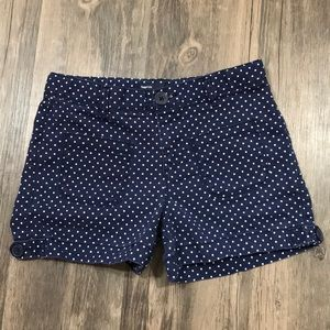 Girls Gap Blue White Polka Dots Shorts